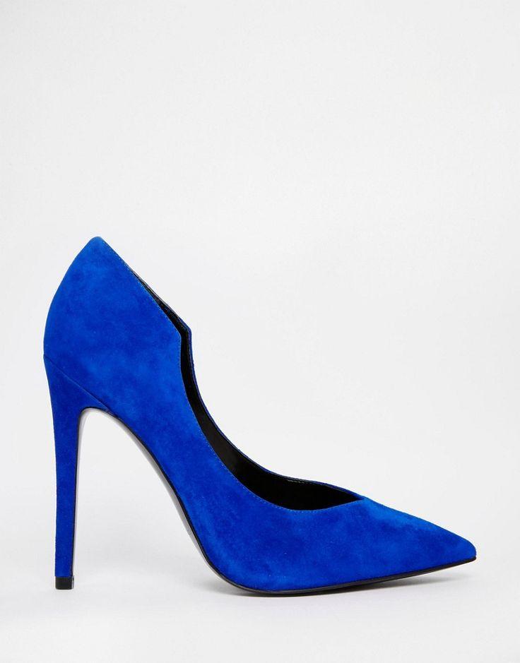 Image 2 - Kendall & Kylie - Abi - Escarpins pointus en daim - Bleu électrique