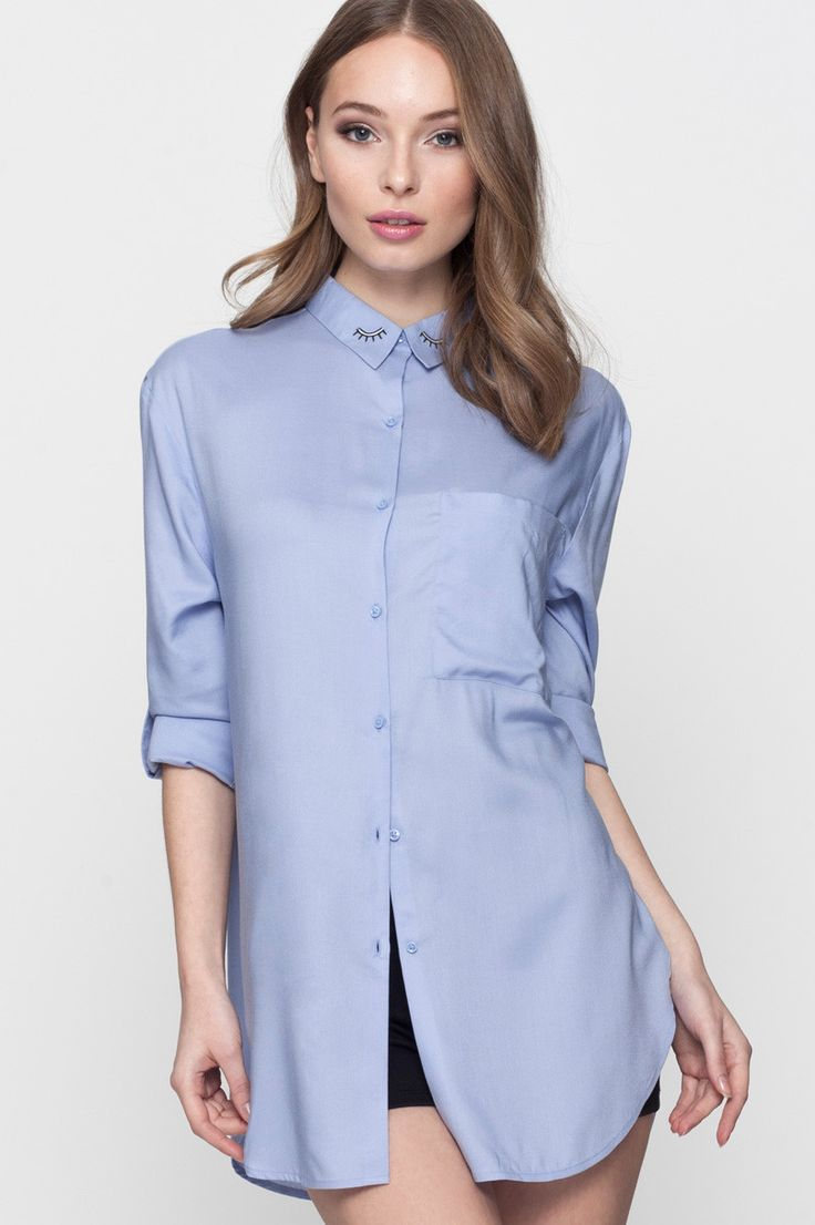 Camicia Blu con Ricamo TALLY WEiJL