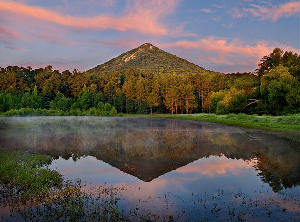 Pinnacle Mountain marks the point that the various geographic regions of Arkansas collide.