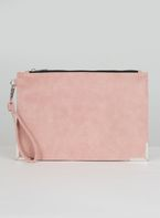 Womens *Chi Chi London Pink Zip Up Clutch Bag- Pink