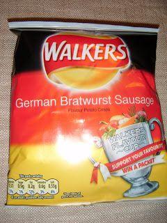 FOODSTUFF FINDS: Walkers Crisps {By Spectre} American Cheeseburger versus German Bratwurst Sausage (Asda)