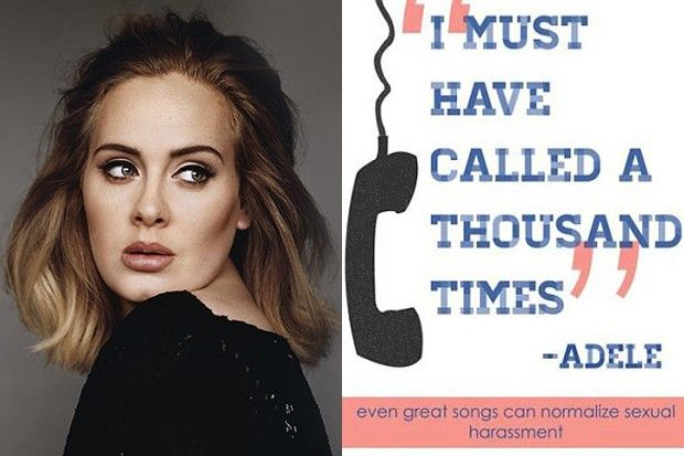"There's a dark side to Adele's chart-conquering single ""Hello"" according to the University of Oakland's Gender + Equality Center. They believe the song norma..."