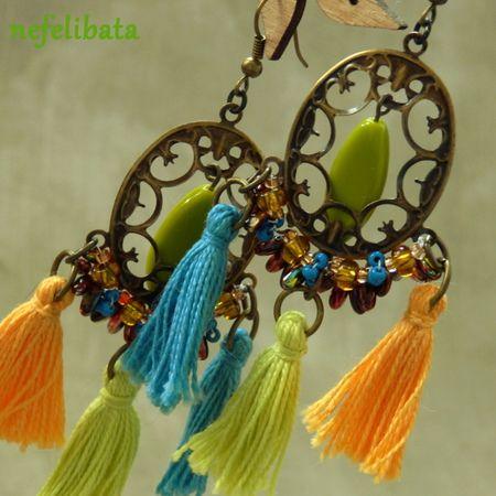 Far Away South ° boho ° boho chic ° boheme ° hippies ° gypsy ° ethno ° jewelry ° freedom ° joy ° handmade ° tassel earrings