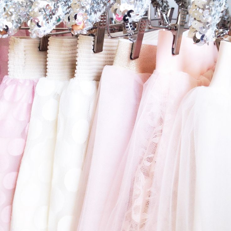 Blush and ivory tulle skirts by Bliss Tulle