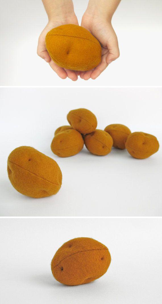 Jouets pour les tout-petits de pommes de terre Eco amical anniversaire cadeau pour feutre jeu de nourriture bébé doudou légumes enfants pour enfants jouet feutre jeu aliments ensemble