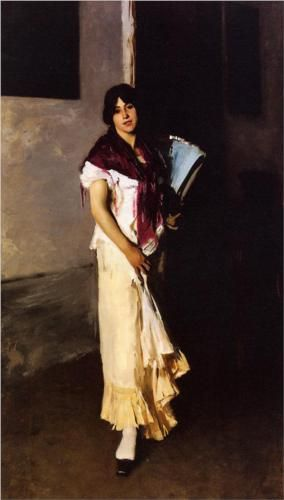 John Singer Sargent. 'A Venetian Woman,' 1882. Oil on canvas. Cincinnati Art Museum, Cincinnati, OH.