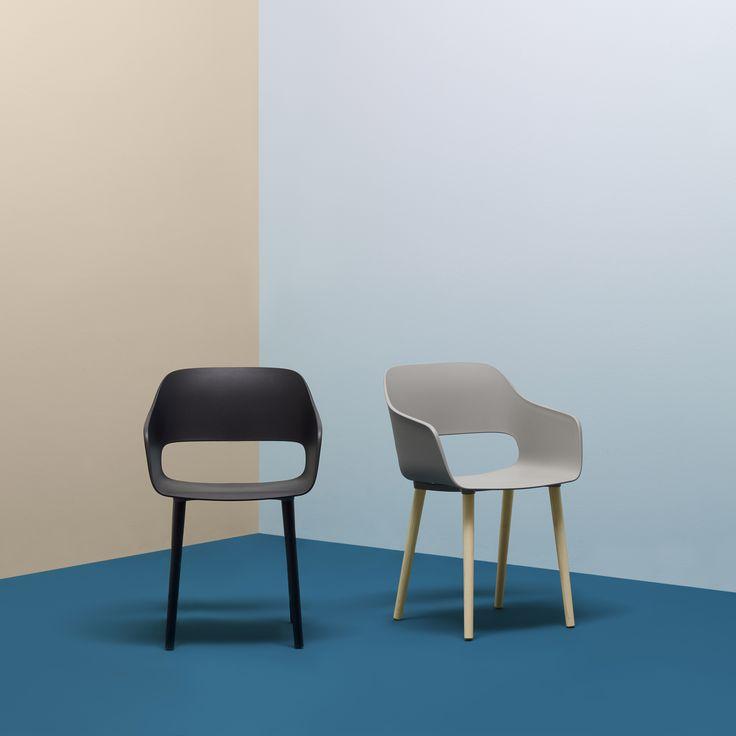 Babila, design Odo Fioravanti #black #grey #chair