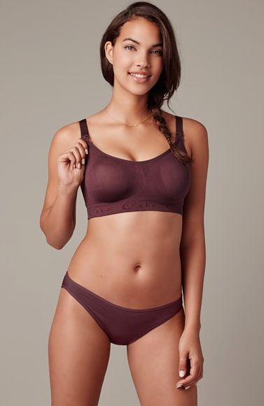 Brown rock candy seamless nursing bra by cake lingerie available in 4