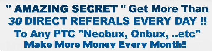 The PTC Code Pdf guidebook helps you to get 30 referrals daily to any ptc sites like onbux and neobux to make money passively.