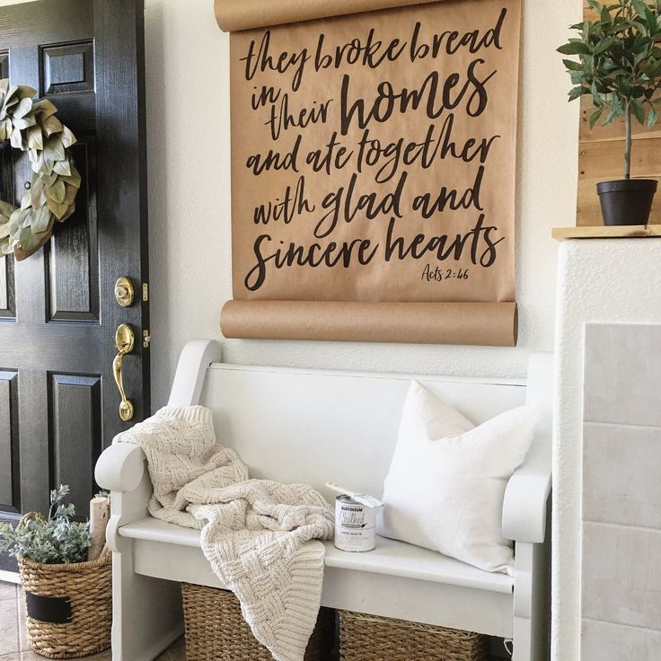Foyer Ideas Quotes : Best church pew bench ideas on pinterest pews