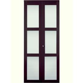 Giving The Olu0027 Closet A Makeover? X Espresso Solid Tempered Frosted Glass  Interior Bifold Closet Door