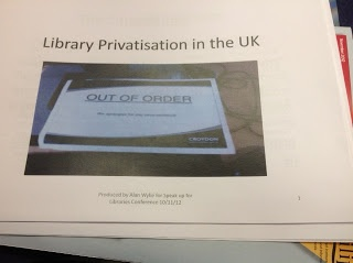 Stop the privatisation of Public Libraries: The 2012 Speak up for Libraries Conference; An inspirational day!