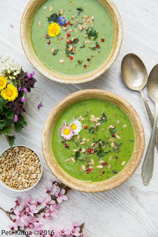 Kopřivová polévka s medvědím česnekem | Greenwayfood