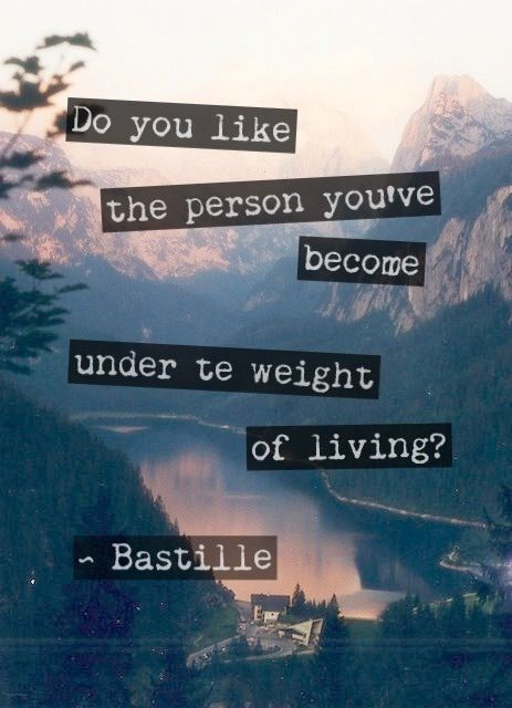 bastille weight of living part i meaning