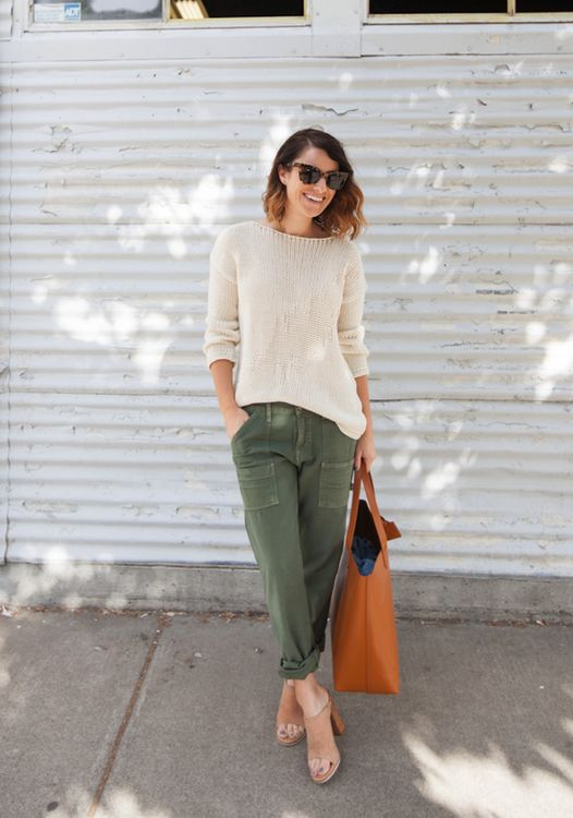 Relaxed cargo pants - love this style.so many of my pants are tighter/skinny fit, this would add some variety to my wardrobe.