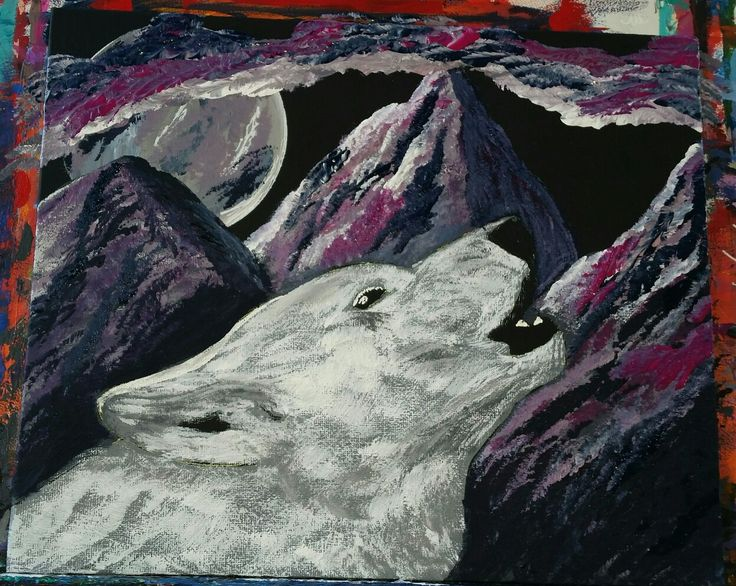 Wet paint. Work in progress. Still a fair bit of work needed on this one yet. Painting by Tracey Lee Art Designs www.traceyleeartdesigns.com #art #painting #wolf #wildlifepaintings #wildlifeart #acrylicpaint