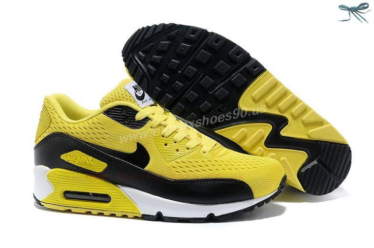 Yellow Black Nike Store For Air Max 90 Premium EM Mens Trainers