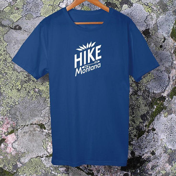Hike Montana, white logo t-shirt