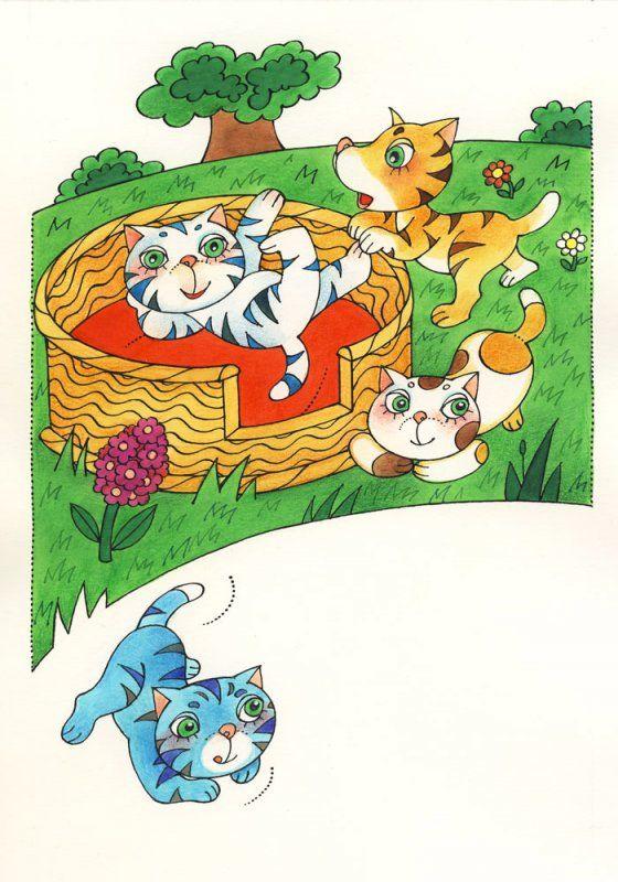 Knižní ilustrace - Říkadla - by Vlasta Švejdová