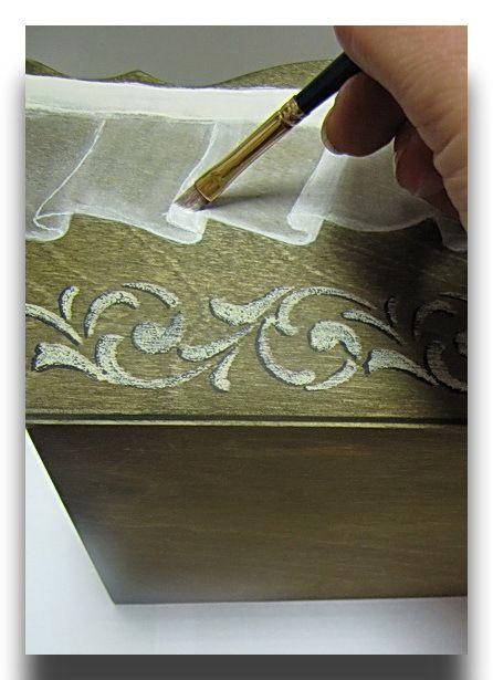Имитация тонкой ткани, капрона. Поэтапный мастер-класс с фотографиями