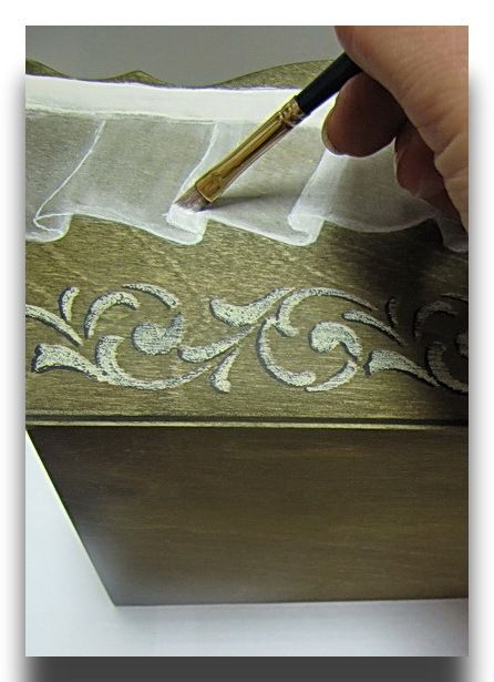 Имитация тонкой ткани.
