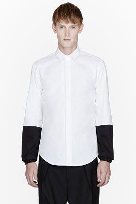 PUBLIC SCHOOL White black-paneled shirt