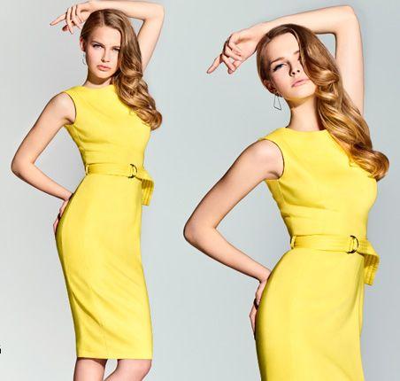 Karolina Pisarek dla Mohito - walentynki 2016 wiosna lookbook ss2016 yellow dress
