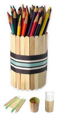 Educação, criatividade e boas ideias. : Palitos de picolé.