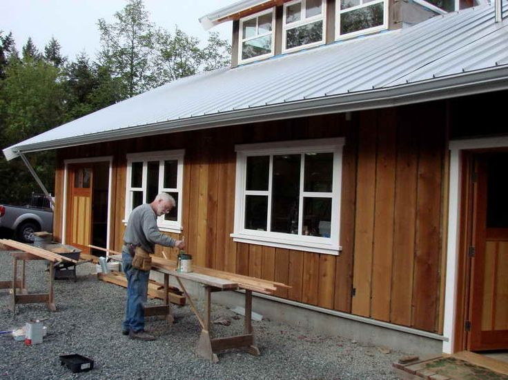 Board batten wood siding simple and inexpensive options for Natural wood siding