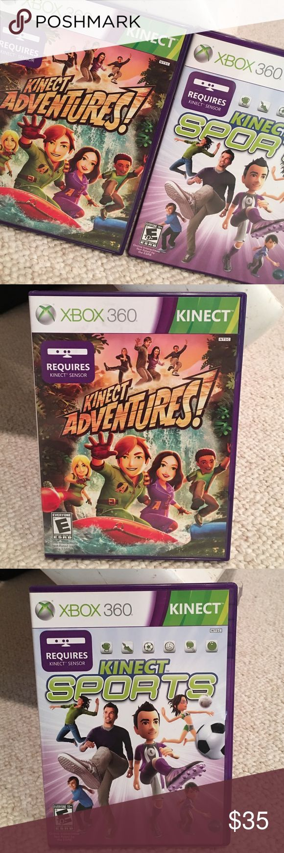 Xbox 360 Game Bundle Kinect Sports and Kinect Adventure! Both are super fun. Must have Kinect for Xbox 360 Other