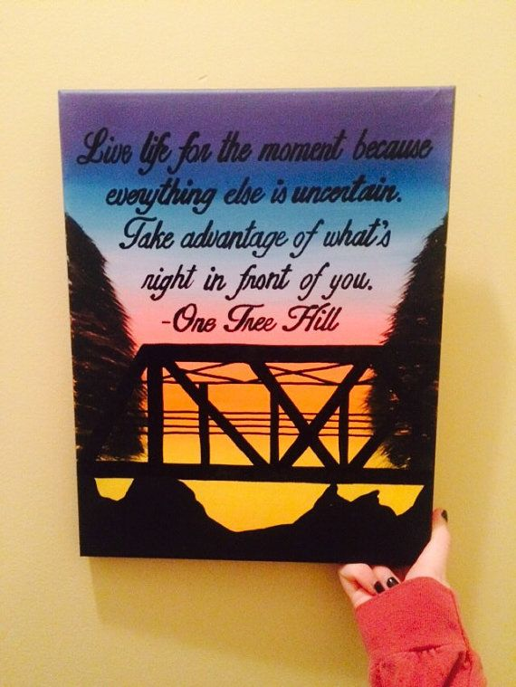 ONE TREE HILL sorority painting by CaitlinJHillDesigns on Etsy
