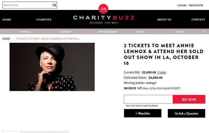 Just a few hours to bid for tickets to Annie Lennox's appearance at The Grammy Museum with a meet and greet opportunity - http://www.eurythmics-ultimate.com/2014/10/13/just-hours-bid-tickets-annie-lennoxs-appearance-grammy-museum-meet-greet-opportunity/