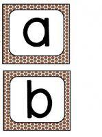 Brown Polka Dot Letters