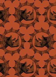 Rhino from the African Archive Fabric Collection, Design Team BelAfrique your personal travel planner - www.BelAfrique.com