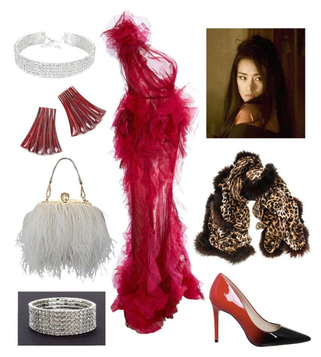 """""""Gala Outfit"""" by miwemporium92 on Polyvore featuring Marchesa and Black"""