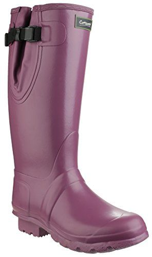 Cotswold womens Cotswold Ladies Kew Waterproof Neoprene Rubber Welly Wellington Boots PURPLE Rubber UK Size 7 EU 41 *** Check out this great product.