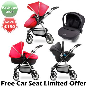 Buy Silver Cross Wayfarer Package Deal Vintage Red + Free Car Seat online at the best price. UK & ROI delivery. Payment plans available. Belfast pram shop.