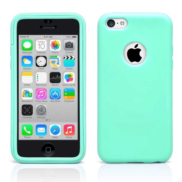 iPhone 5C Case, MagicMobile® Ultra Slim Hybrid Protective Case For Apple iPhone 5C Wrap-Up Armor TPU Cover Impact Resistant Shockproof iPhone 5C Cute Case with Built-In Screen Protector [Turquoise]