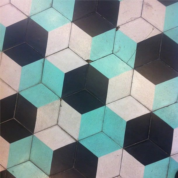 hexagonal hydraulic tile // piso hidraulico hexagonal