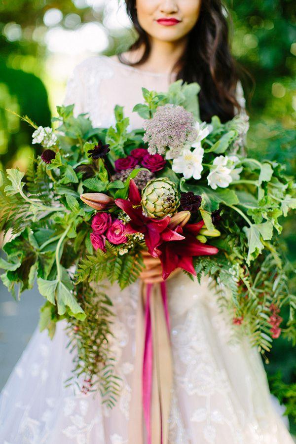 Lush bouquet    #wedding #weddingideas #aislesociety #winterwedding