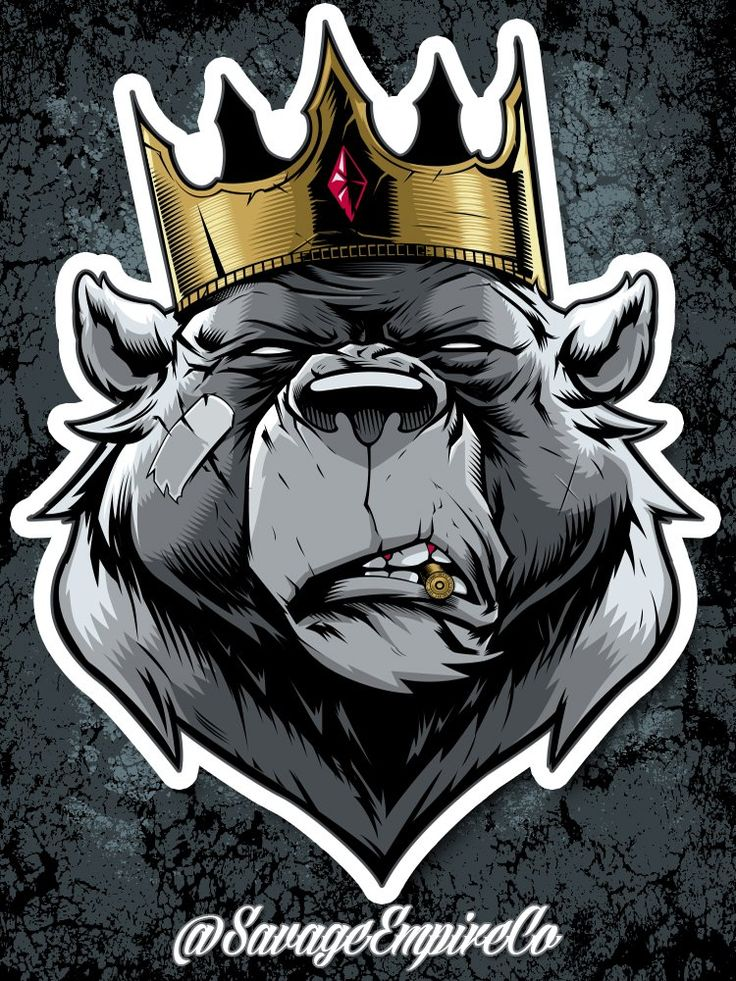Savage king stickers