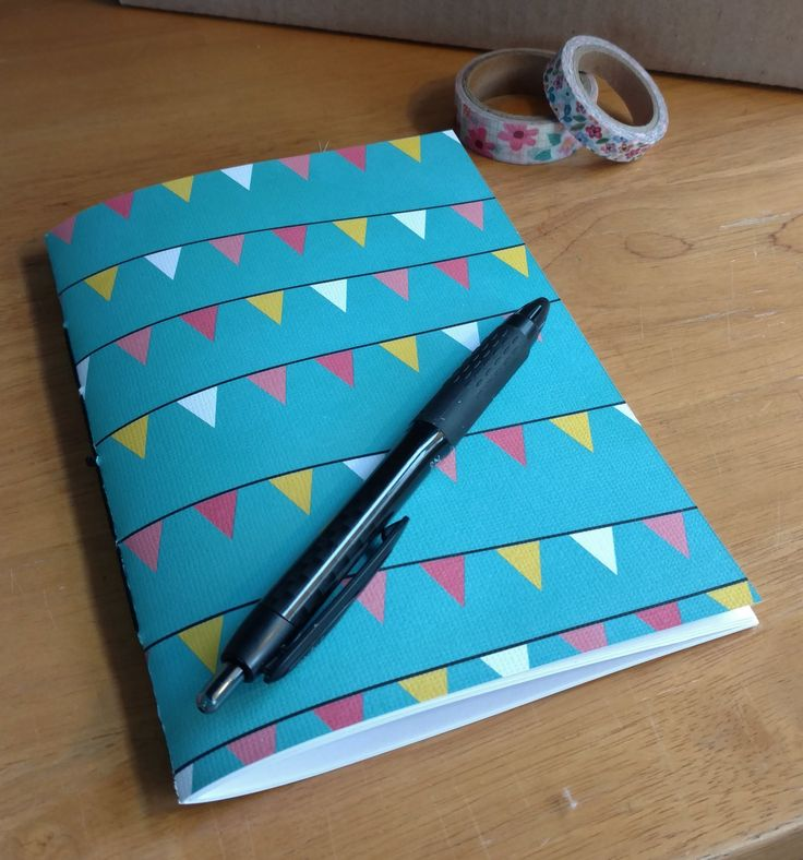 Blue Flag Banner Traveler's Insert - Midori Notebook - 6 interior options - 9 sizes - Passport/FN/Personal/B6/B6 Slim/A6/Standard - 0146 by ThreeTreeWhimsy on Etsy