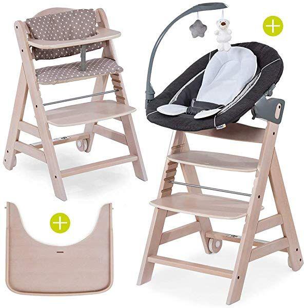 Hauck Beta Plus Newborn Set Deluxe Chaise Haute Bebe En Bois Evolutive Des Naissance Inclus Transat Pour No En 2020 Chaise Haute Chaise Haute Bebe Coussin Assise