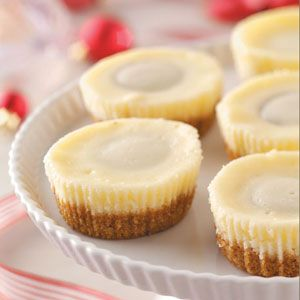 Top 10 Cheesecake Recipes from Taste of Home, including Miniature Peanut Butter Cheesecakes Recipe