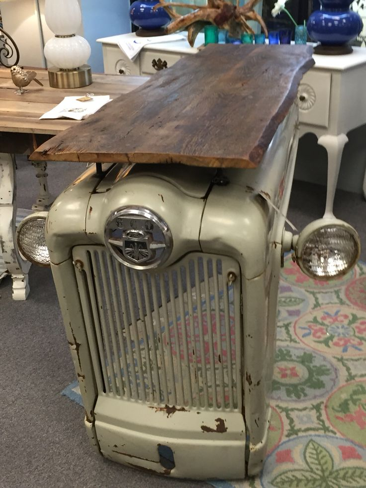 Cool accent piece for your office or home. 1947 Ford Jubilee Tractor table/ desk Outofedencc@gmail.com