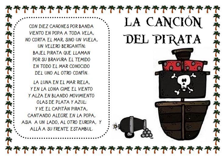 """Plastificando ilusiones: Poesía """"La canción del pirata"""" de Espronceda"""