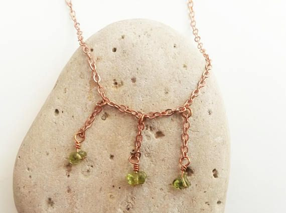 Dainty peridot anklet  Dainty anklet Chain anklet Beach