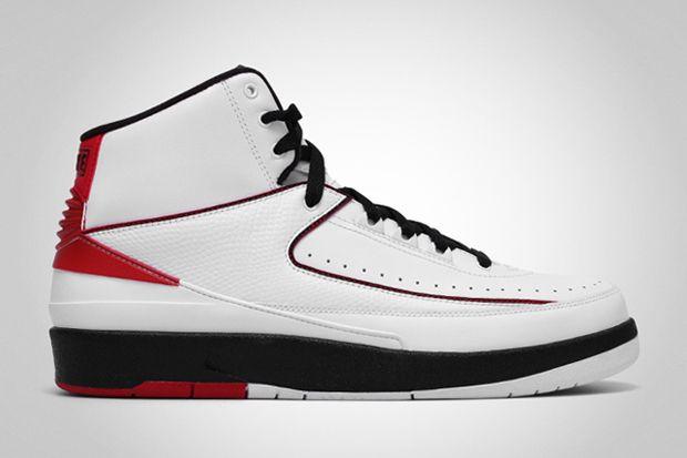 Air Jordan 2 Retro WhiteBlack Varsity Red | SneakerHeart