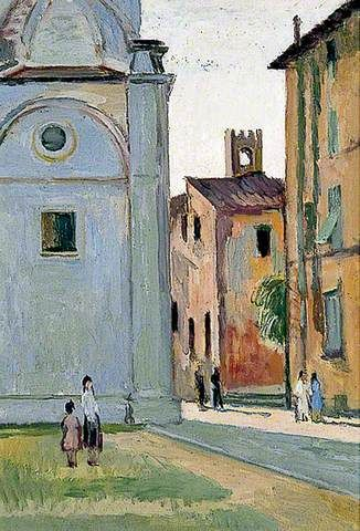 """artist..Vanessa Bell  """"the Duomo, Lucca, Italy"""""""