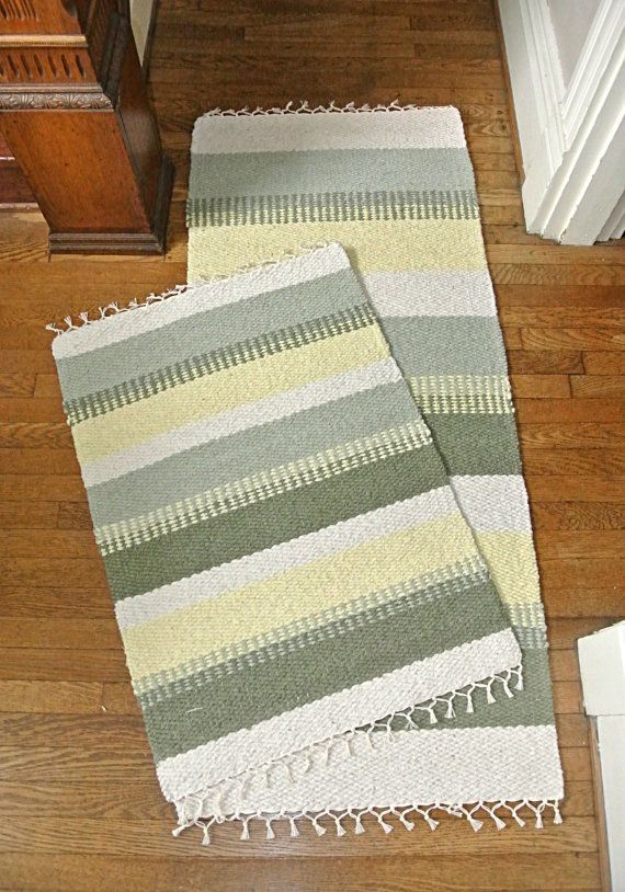 Hand Woven Rug set - 24 x 34 and 24 x 56 on Etsy, £57.53